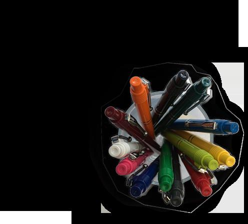 Raja kuglepenne i glas